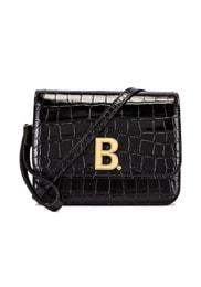 Small Embossed Croc B Bag