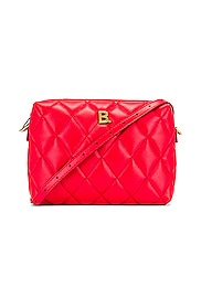 B Quilted Leather Camera Bag