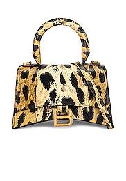 XS Leopard Hourglass Top Handle Bag