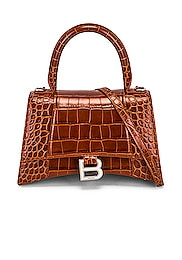Small Hourlgass Top Handle Bag