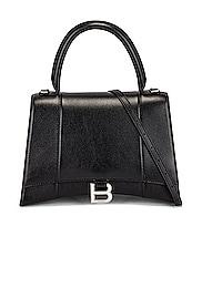 Medium Hourglass Top Handle Bag