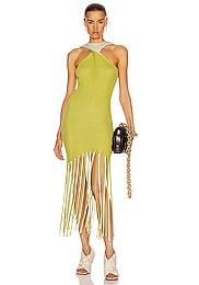 Halter Twist Fringe Dress
