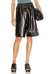 Leather Bermuda Short