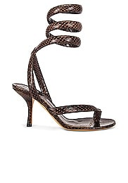 Printed Python Ankle Twist Heels