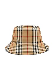 Heavy Cotton Check Bucket Hat