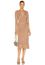 Polo Knit Midi Dress