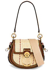 Small Tess Raffia Crossbody Bag