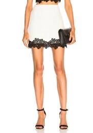 Lace Trim Mini Skirt