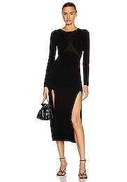 Hosiery Shadow Long Sleeve Dress