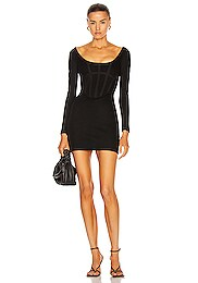 Rib Corset Mini Dress