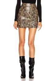 Embossed Leather Skirt