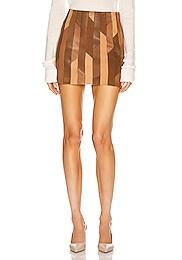 Patchwork Mini Skirt
