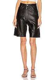 Margot Leather Short