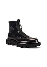 Combat Boot With Zip