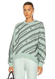 Chain Logo Jacquard Sweater