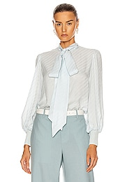 Ribbed Tie Button Down Top