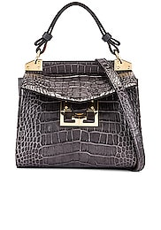 Mini Mystic Embossed Croc Bag