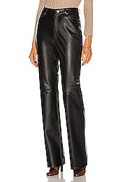 Mila Leather Boot Cut Pant