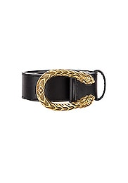 Leather Dionysus Buckle Belt
