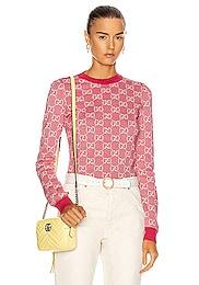 GG Long Sleeve Knit Top