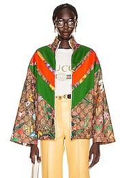 GG Flora Zip Up Jacket