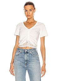 Cropped Ruched Front Top