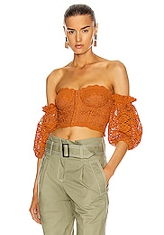 Leigh Puff Sleeve Bustier Top