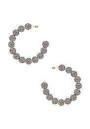 Stardust Crystal Hoop Earrings