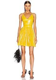 Sequined Pleated Mini Dress