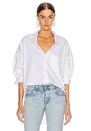 Drop Neck Oxford Shirt