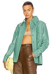 Rosalee Long Sleeve Leather Shirt