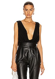 Jersey Wide Draped Top