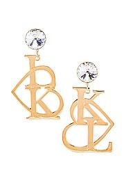 K & L Heart Earrings
