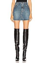 Classic Triangle Denim Mini Skirt