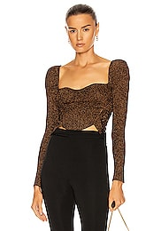 Rust Knit Lace Top