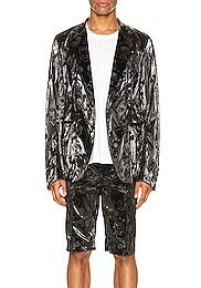 Single Breasted Peaked Lapel Jacket