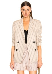 Stripe Suiting Blazer