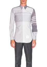 Oversize Plaid Oxford Shirt