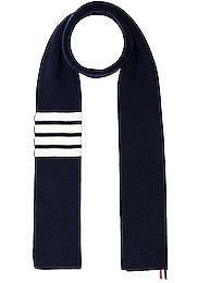 Cashmere Ribbed Bar Stripe Scarf