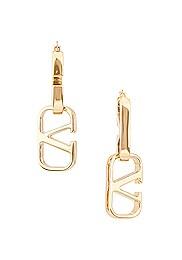 V Chain Earrings