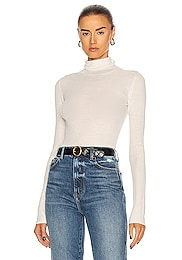 Rib Turtleneck Top