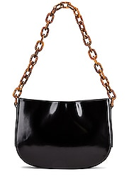Pelle Semi Patent Leather Shoulder Bag